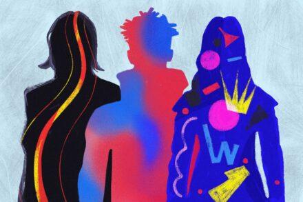 3 figures modern art